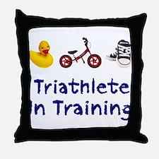 Triathlete in Training Throw Pillow