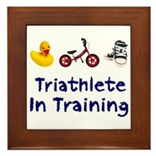 Triathlete in Training Framed Tile