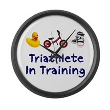 Triathlete in Training Large Wall Clock