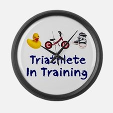 Triathlete in Training Large Wall Clock