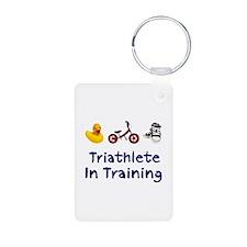 Triathlete in Training Keychains