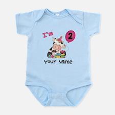 2nd Birthday Girl Cow Infant Bodysuit