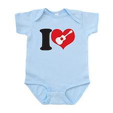 I Love Uke Infant Bodysuit