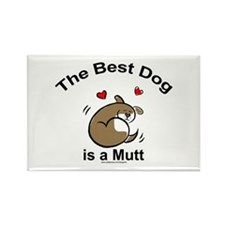 Best Mutt Dog Rectangle Magnet