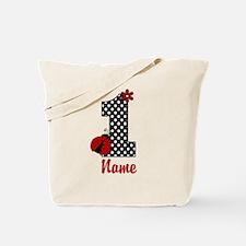 1st Birthday Ladybug Tote Bag