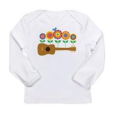 Ukulele Flowers Long Sleeve Infant T-Shirt
