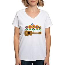 Ukulele Flowers Shirt