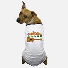 Ukulele Flowers Dog T-Shirt