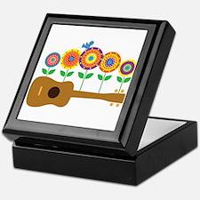 Ukulele Flowers Keepsake Box