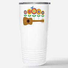 Ukulele Flowers Travel Mug