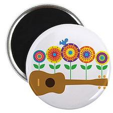 "Ukulele Flowers 2.25"" Magnet (10 pack)"