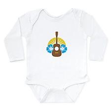 Ukulele Hibiscus Long Sleeve Infant Bodysuit