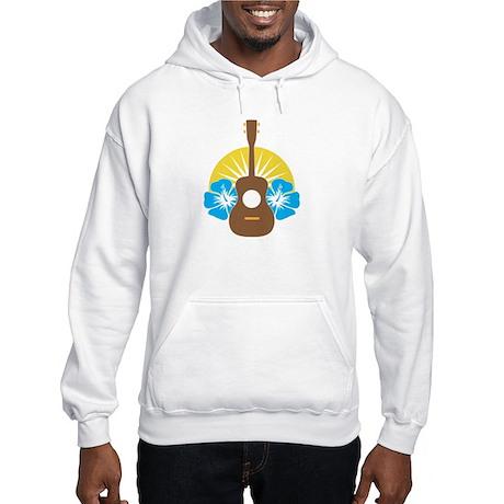 Ukulele Hibiscus Hooded Sweatshirt