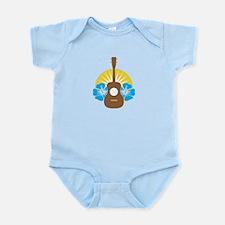 Ukulele Hibiscus Infant Bodysuit