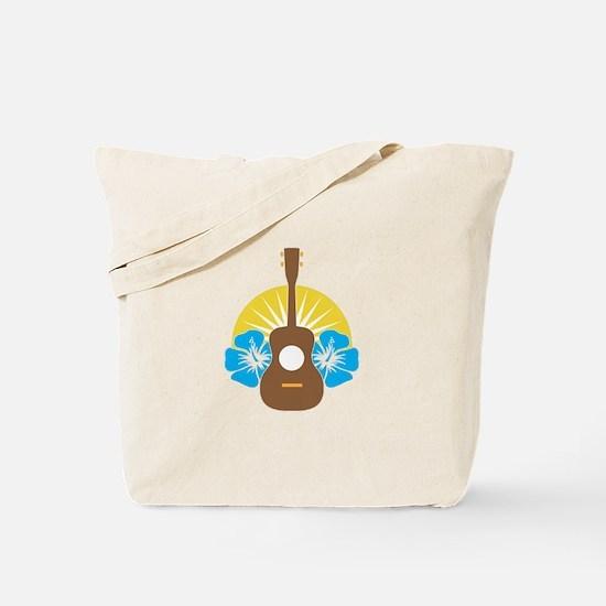Ukulele Hibiscus Tote Bag