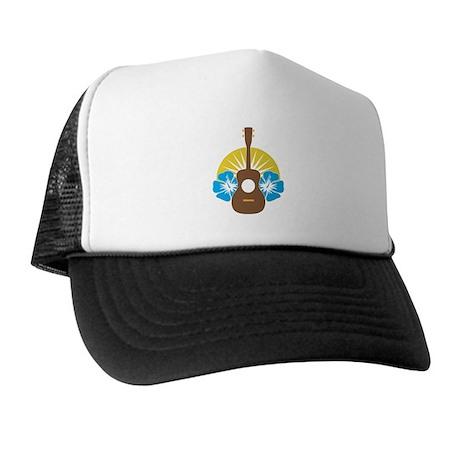 Ukulele Hibiscus Trucker Hat