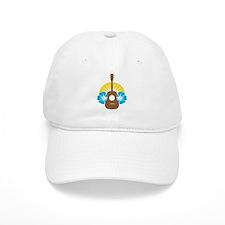 Ukulele Hibiscus Baseball Cap