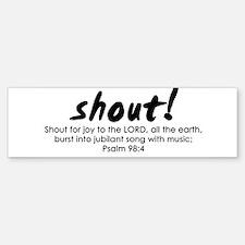 Shout Music Bumper Bumper Sticker