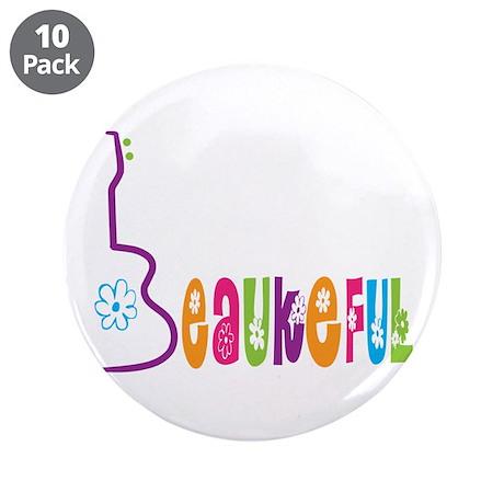 """Beaukeful Uke 3.5"""" Button (10 pack)"""