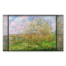 Monet Painting, Springtime, 1880, Decal