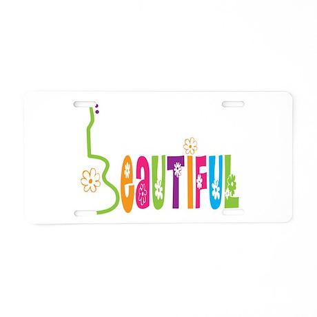 Beautiful Uke Aluminum License Plate