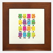 Chord Cheat Tee White Framed Tile