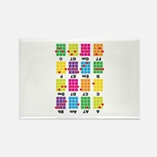 Chord Cheat Tee White Rectangle Magnet