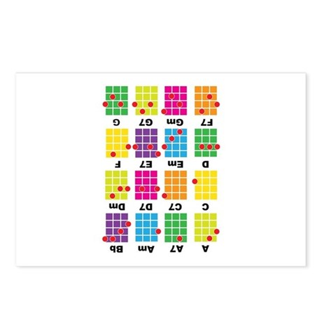 Chord Cheat Tee White Postcards (Package of 8)