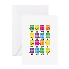 Chord Cheat Tee White Greeting Card