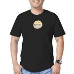 Smiley Grin Funny Men's Fitted T-Shirt (dark)