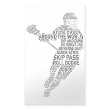 Lacrosse LAX Player Decal