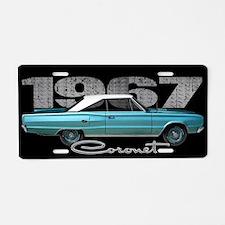 1967 Coronet Aluminum License Plate