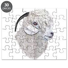 Angora Goat Portrait Puzzle