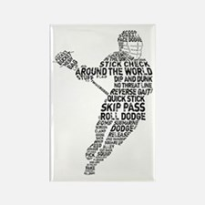Lacrosse LAX Player Rectangle Magnet