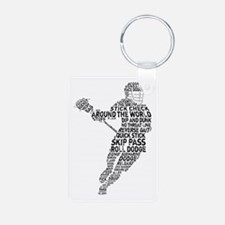 Lacrosse LAX Player Keychains
