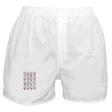 Uke Chord Cheat White Boxer Shorts