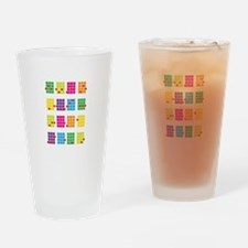 Uke Chords Colourful Drinking Glass