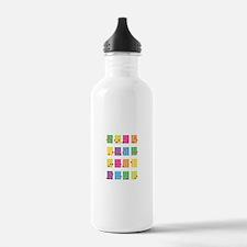 Uke Chords Colourful Water Bottle