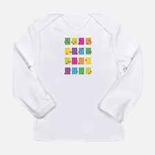 Uke Chords Colourful Long Sleeve Infant T-Shirt