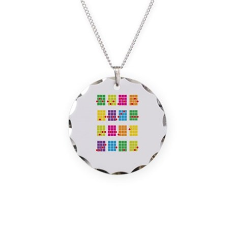 Uke Chords Colourful Necklace Circle Charm