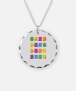 Uke Chords Colourful Necklace Circle Charm