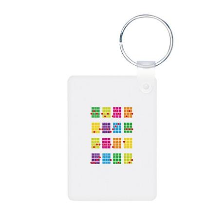 Uke Chords Colourful Aluminum Photo Keychain
