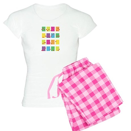Uke Chords Colourful Women's Light Pajamas