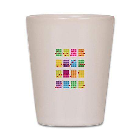 Uke Chords Colourful Shot Glass