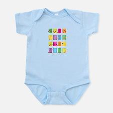 Uke Chords Colourful Infant Bodysuit