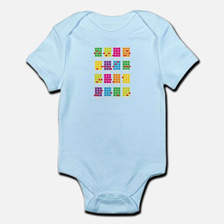 Uke Chords Colourful Infant Bodysuit