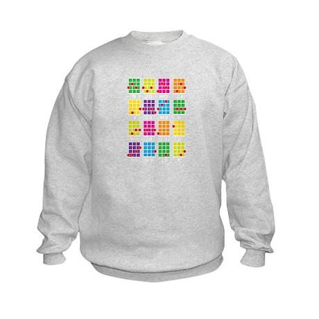 Uke Chords Colourful Kids Sweatshirt