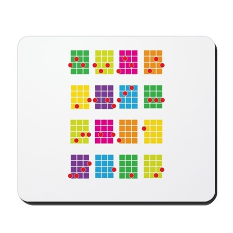 Uke Chords Colourful Mousepad
