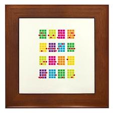 Uke Chords Colourful Framed Tile