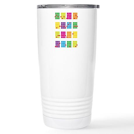 Uke Chords Colourful Stainless Steel Travel Mug